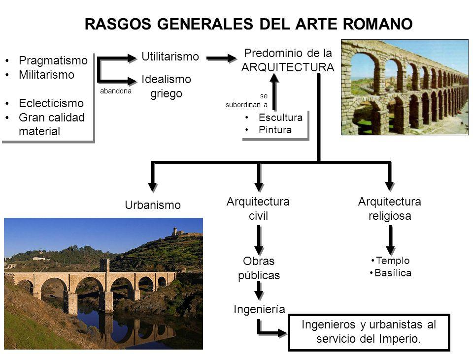 RASGOS GENERALES DEL ARTE ROMANO