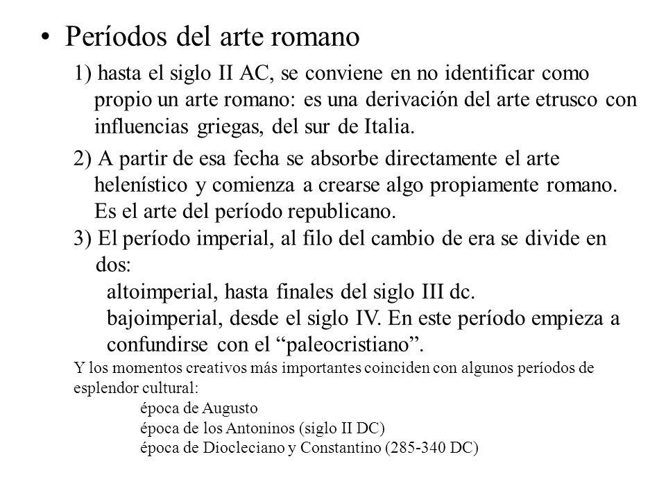 Períodos del arte romano