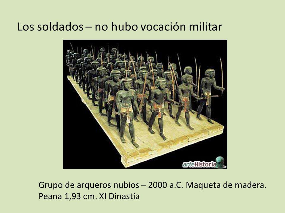 Los soldados – no hubo vocación militar