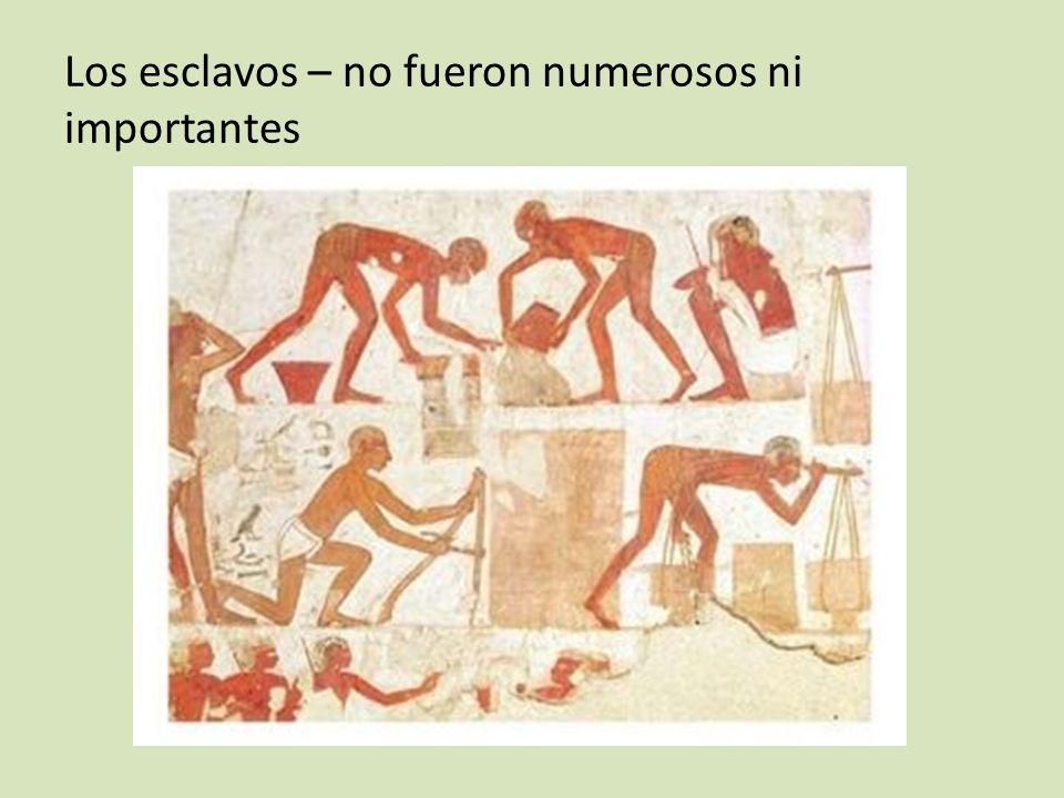 Los esclavos – no fueron numerosos ni importantes