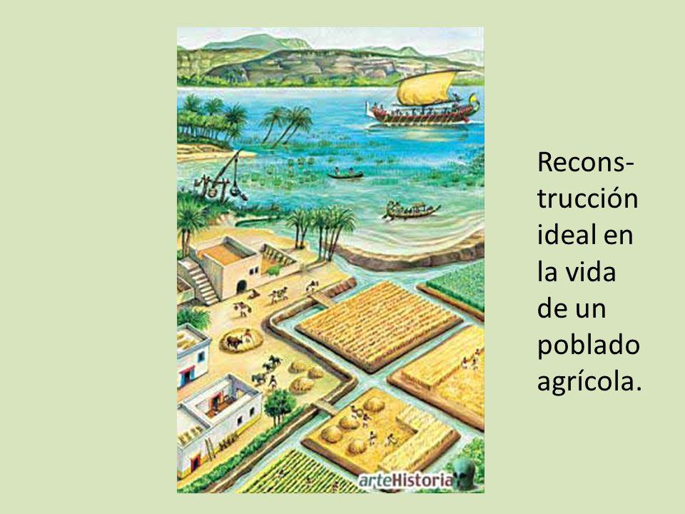 Recons-trucción ideal en la vida de un poblado agrícola.