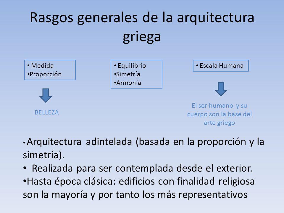 Rasgos generales de la arquitectura griega