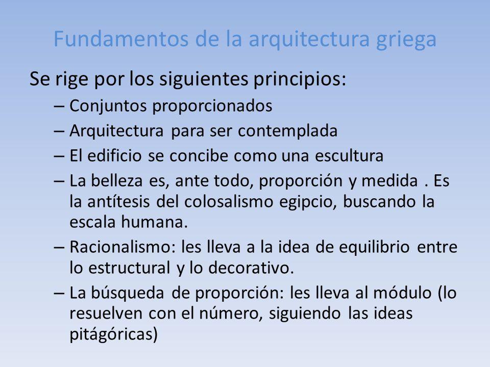 Fundamentos de la arquitectura griega