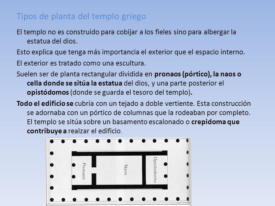 Tipos de planta del templo griego