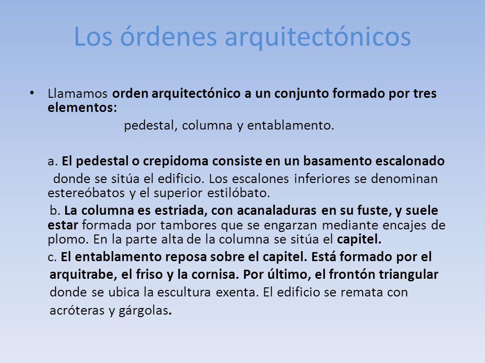 Los órdenes arquitectónicos