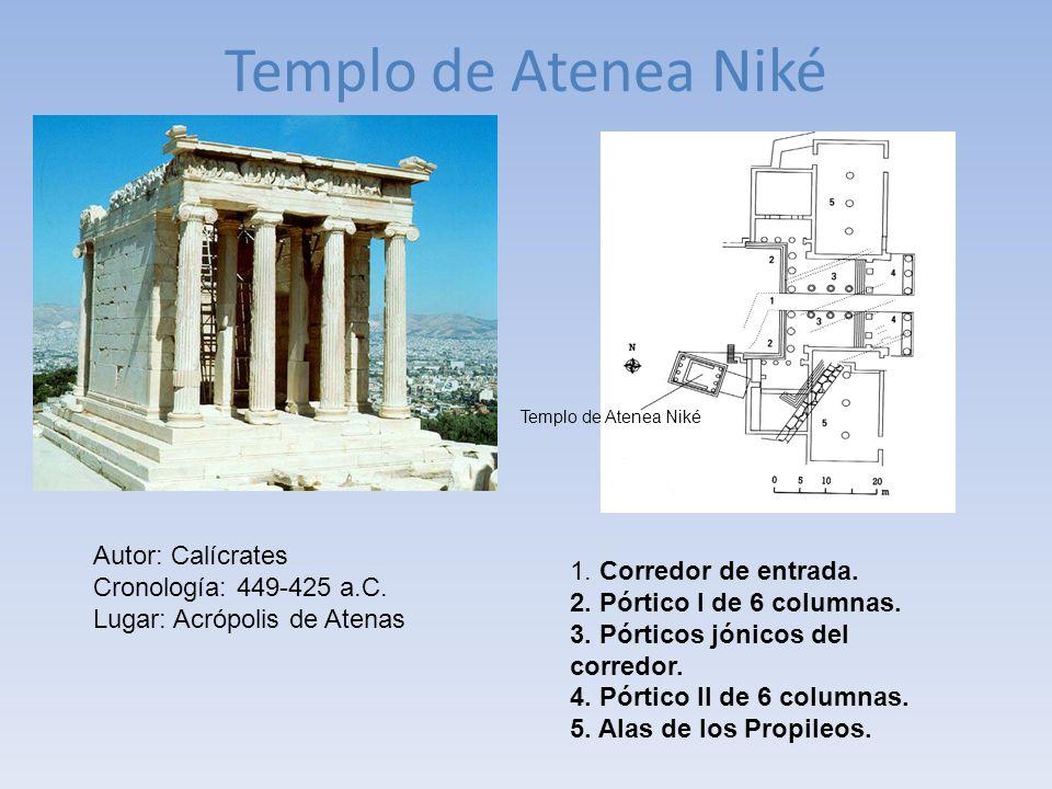 Templo de Atenea Niké Autor: Calícrates 1. Corredor de entrada.