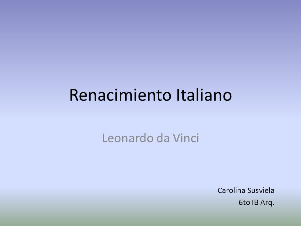 Renacimiento Italiano