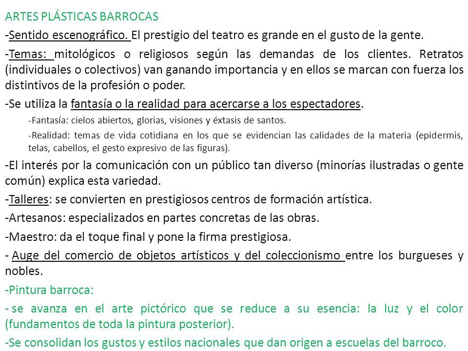 ARTES PLÁSTICAS BARROCAS