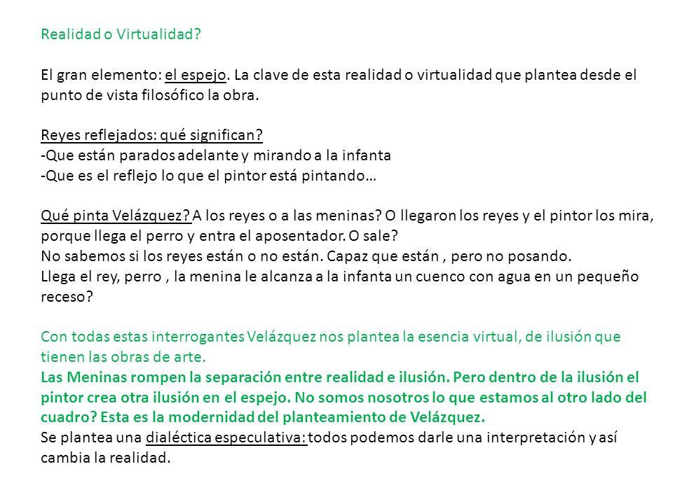 Realidad o Virtualidad
