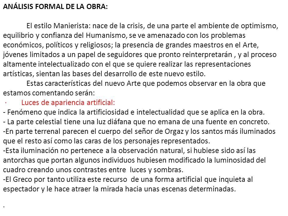 ANÁLISIS FORMAL DE LA OBRA: