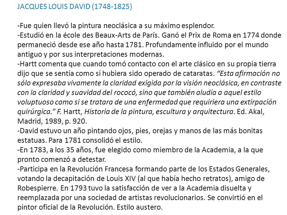 JACQUES LOUIS DAVID (1748-1825)