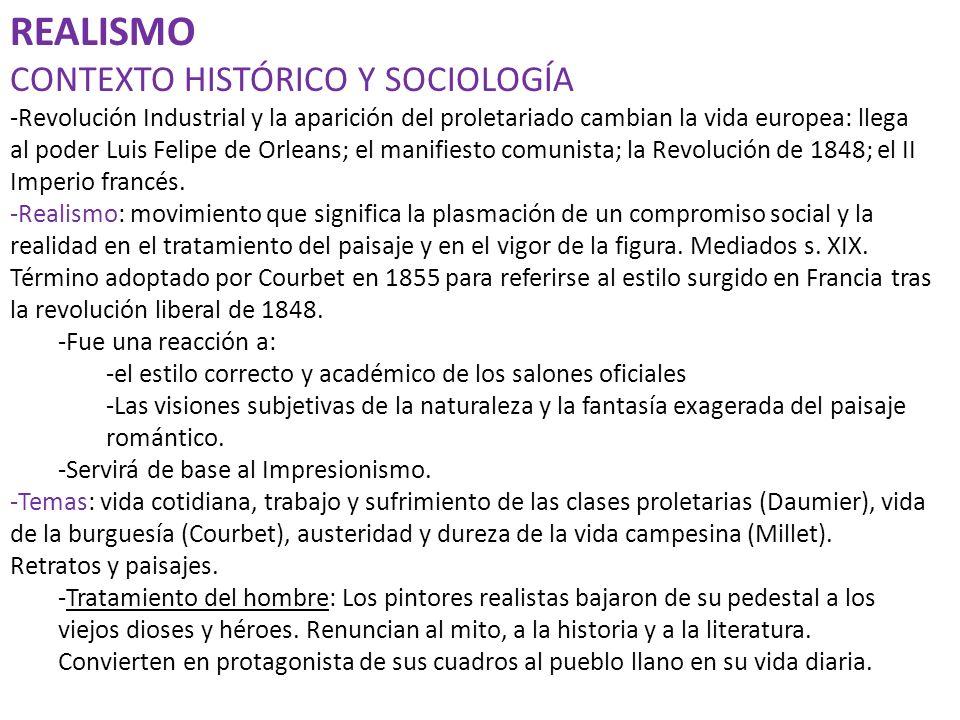 REALISMO CONTEXTO HISTÓRICO Y SOCIOLOGÍA
