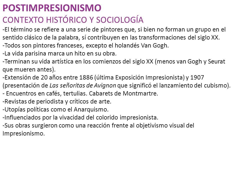 POSTIMPRESIONISMO CONTEXTO HISTÓRICO Y SOCIOLOGÍA
