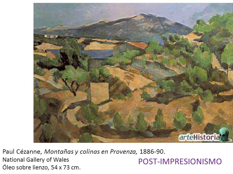 Paul Cézanne, Montañas y colinas en Provenza, 1886-90.