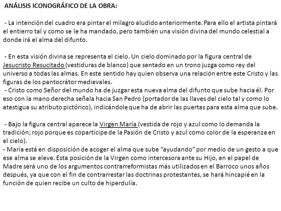 ANÁLISIS ICONOGRÁFICO DE LA OBRA: