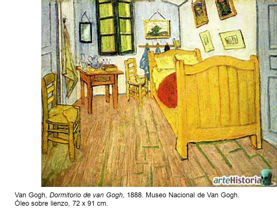 Van Gogh, Dormitorio de van Gogh, 1888. Museo Nacional de Van Gogh.