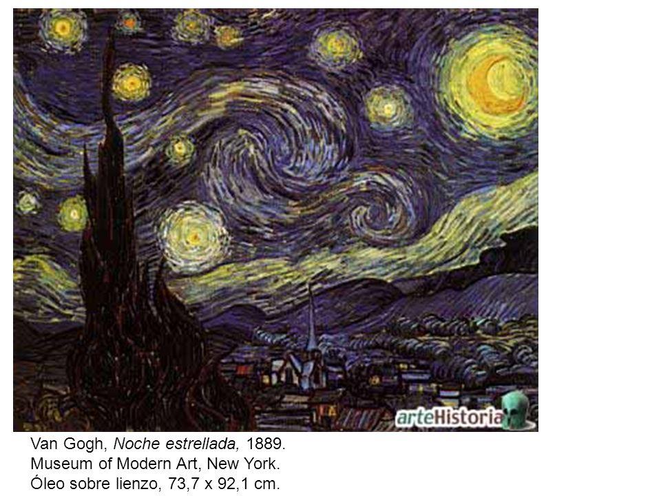 Van Gogh, Noche estrellada, 1889.