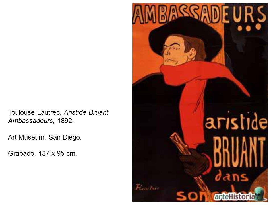 Toulouse Lautrec, Aristide Bruant