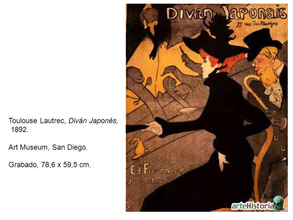 Toulouse Lautrec, Diván Japonés,