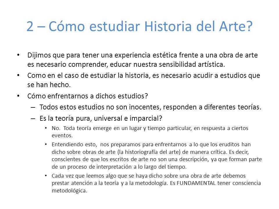 2 – Cómo estudiar Historia del Arte