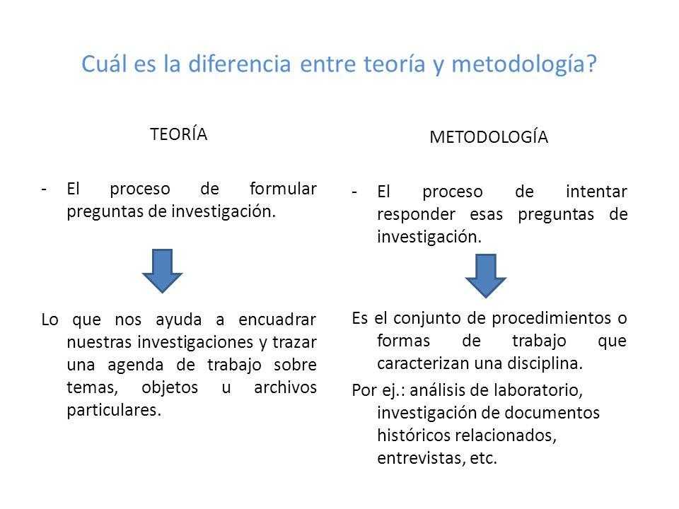 Cuál es la diferencia entre teoría y metodología