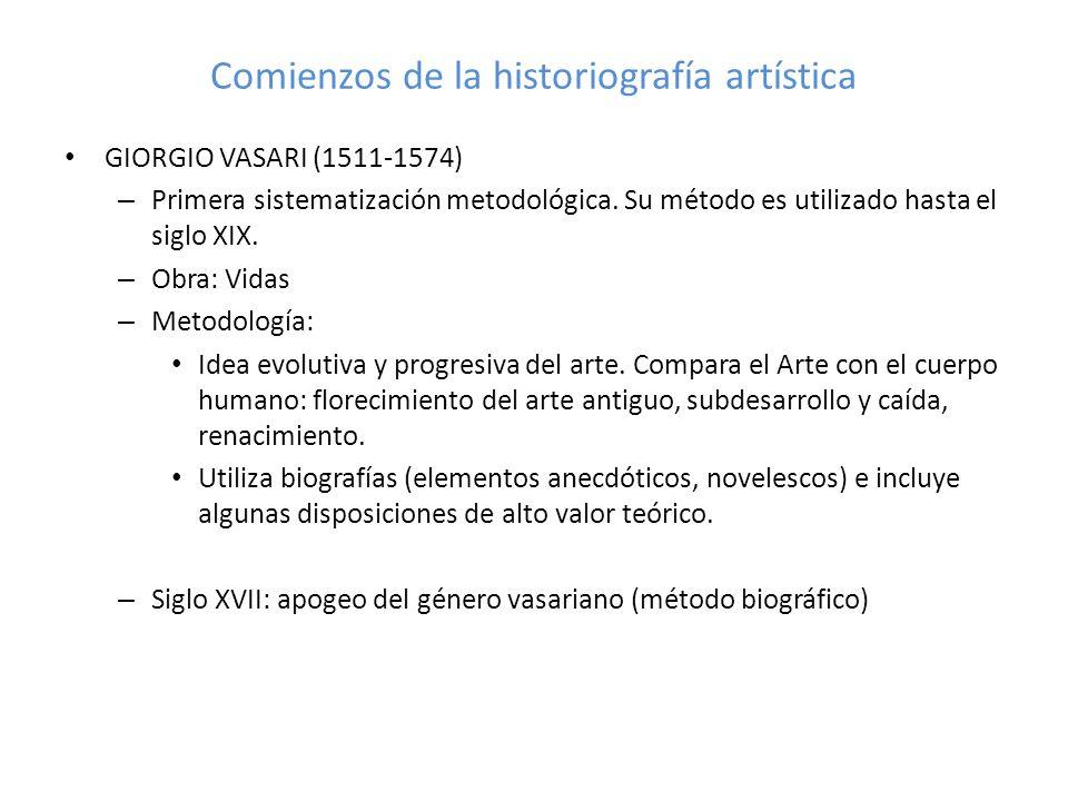 Comienzos de la historiografía artística