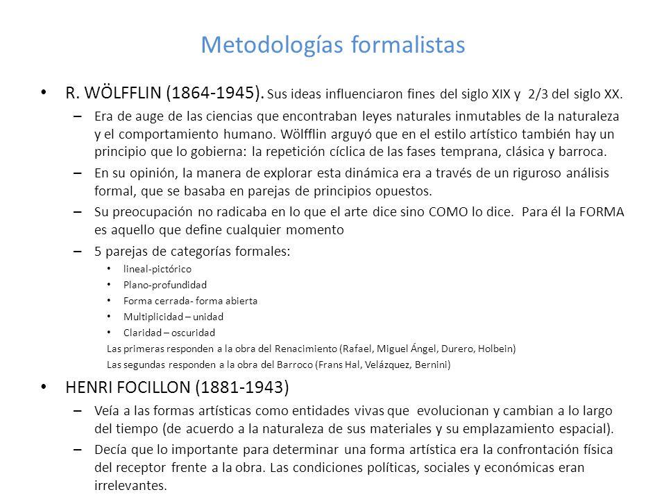 Metodologías formalistas