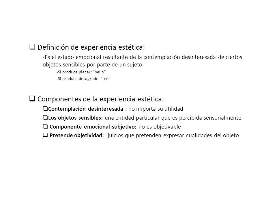 Definición de experiencia estética: