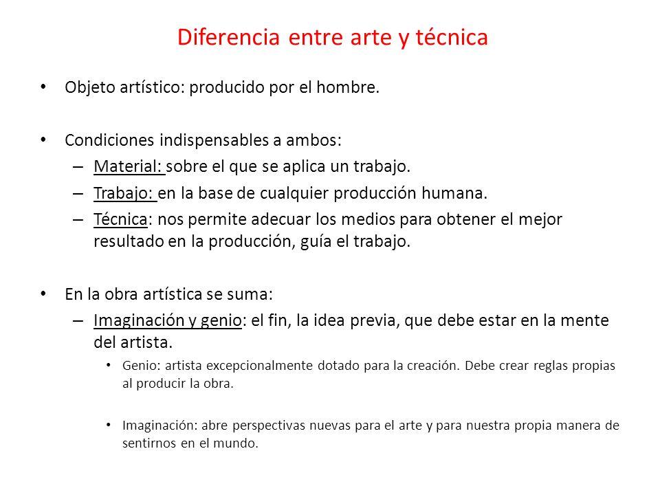 Diferencia entre arte y técnica