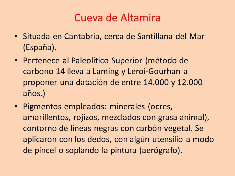 Cueva de AltamiraSituada en Cantabria, cerca de Santillana del Mar (España).