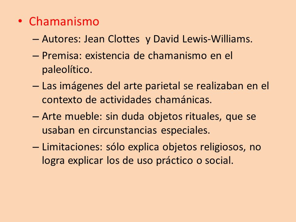 Chamanismo Autores: Jean Clottes y David Lewis-Williams.