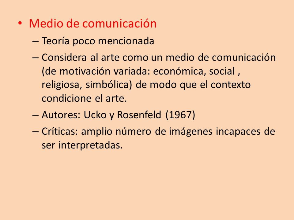 Medio de comunicación Teoría poco mencionada