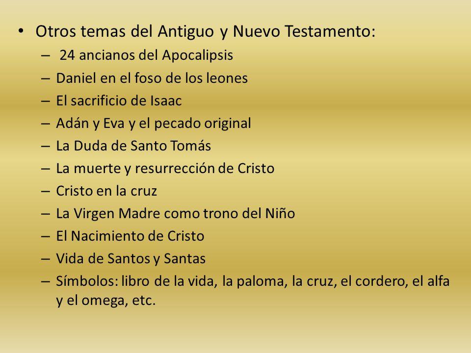 Otros temas del Antiguo y Nuevo Testamento: