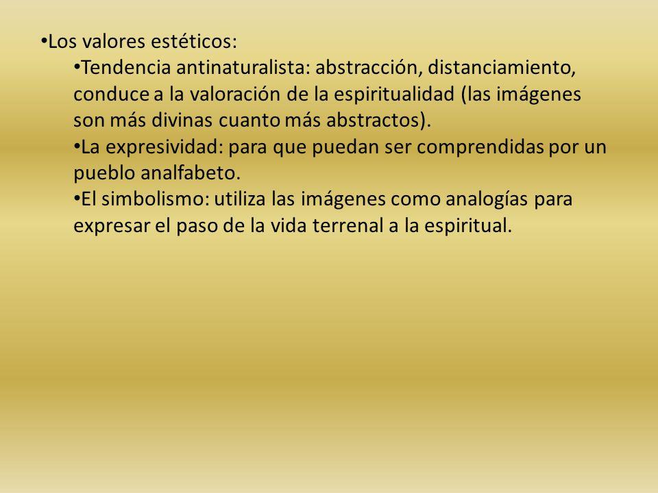 Los valores estéticos: