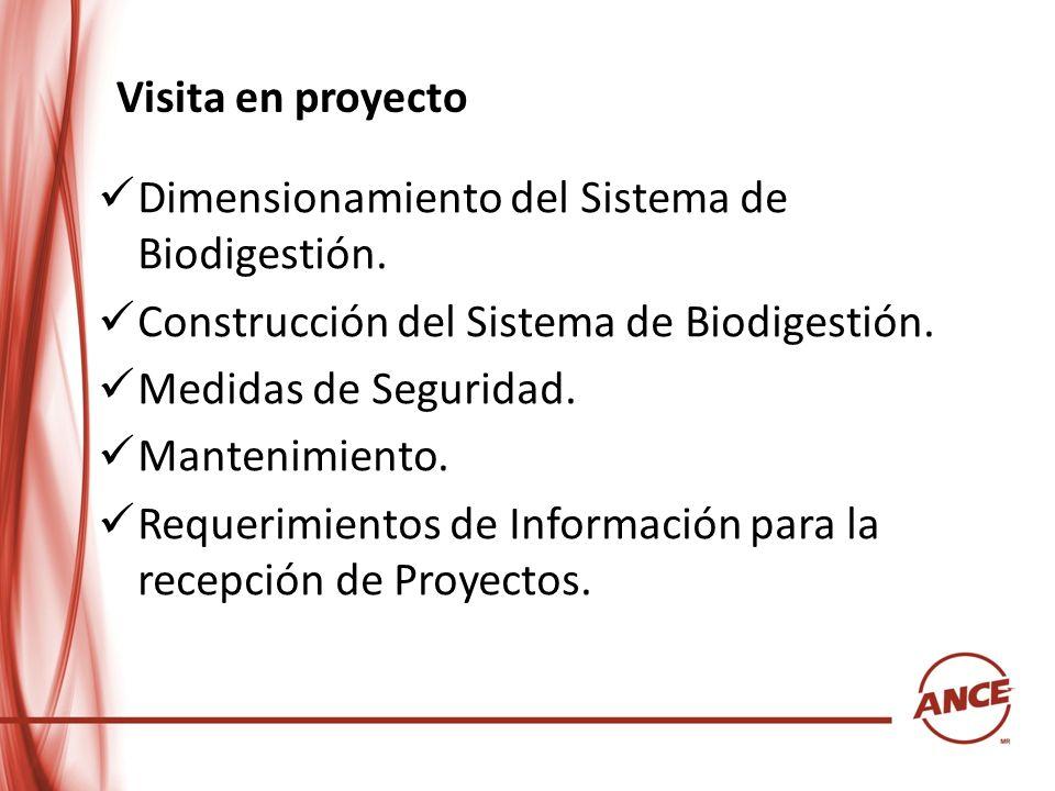 Visita en proyectoDimensionamiento del Sistema de Biodigestión. Construcción del Sistema de Biodigestión.
