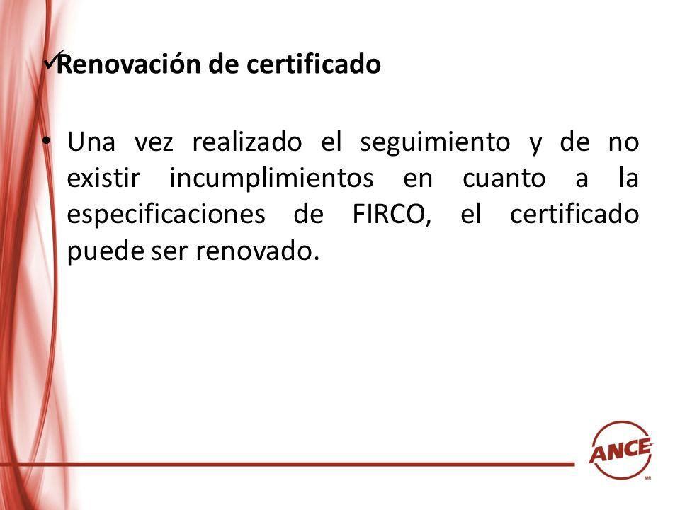 Renovación de certificado