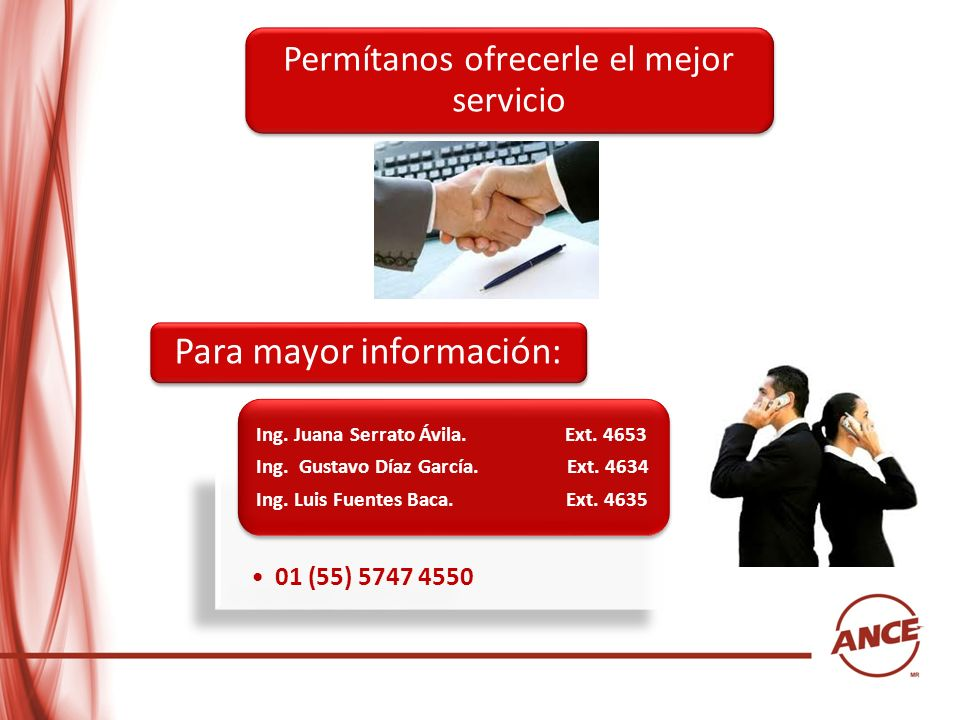01 (55) 5747 4550 Ing. Juana Serrato Ávila. Ext. 4653