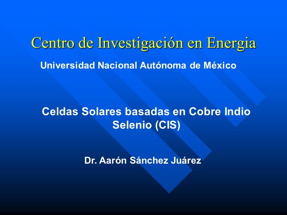 Centro de Investigación en Energia