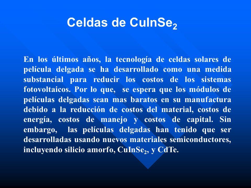Celdas de CuInSe2