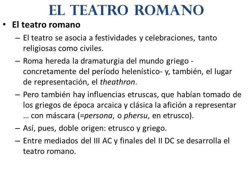 el teatro romano El teatro romano