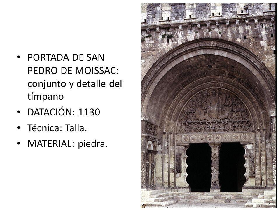 PORTADA DE SAN PEDRO DE MOISSAC: conjunto y detalle del tímpano