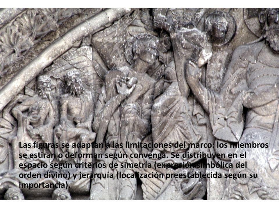 Las figuras se adaptan a las limitaciones del marco: los miembros se estiran o deforman según convenga.