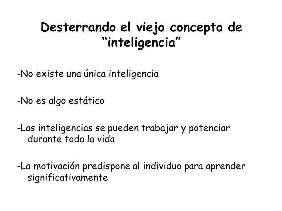 Desterrando el viejo concepto de inteligencia