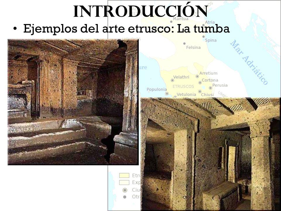 Introducción Ejemplos del arte etrusco: La tumba
