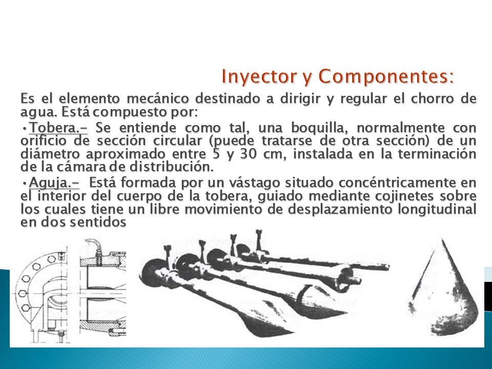 Inyector y Componentes: