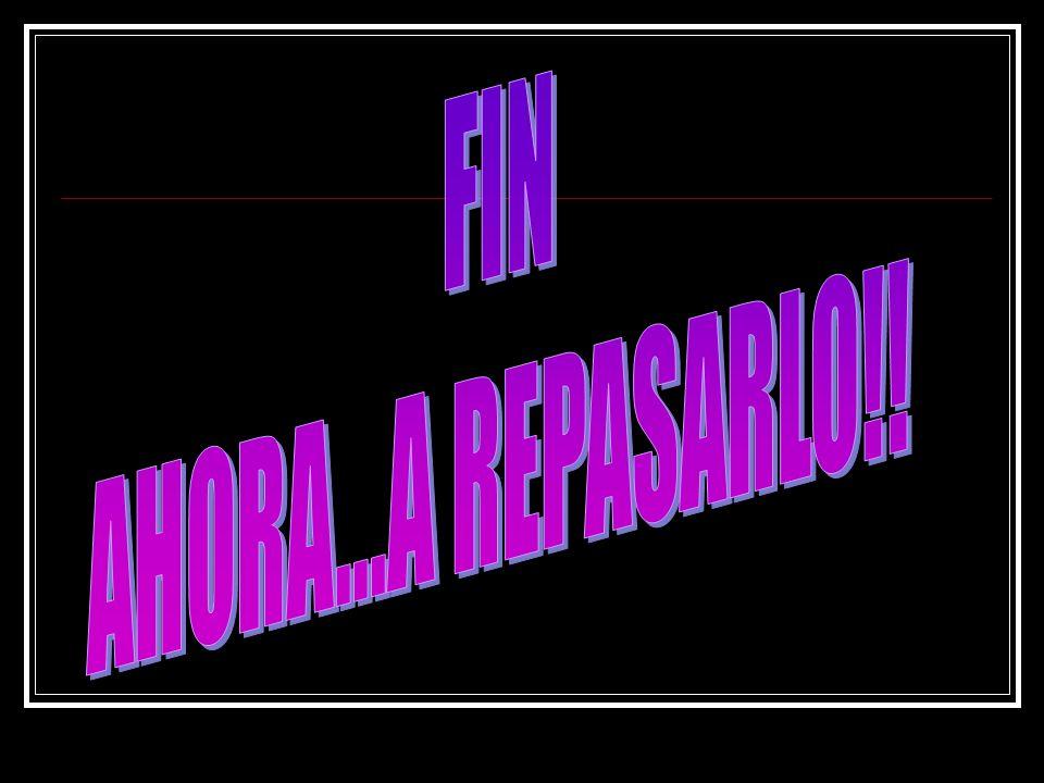 FIN AHORA...A REPASARLO!!