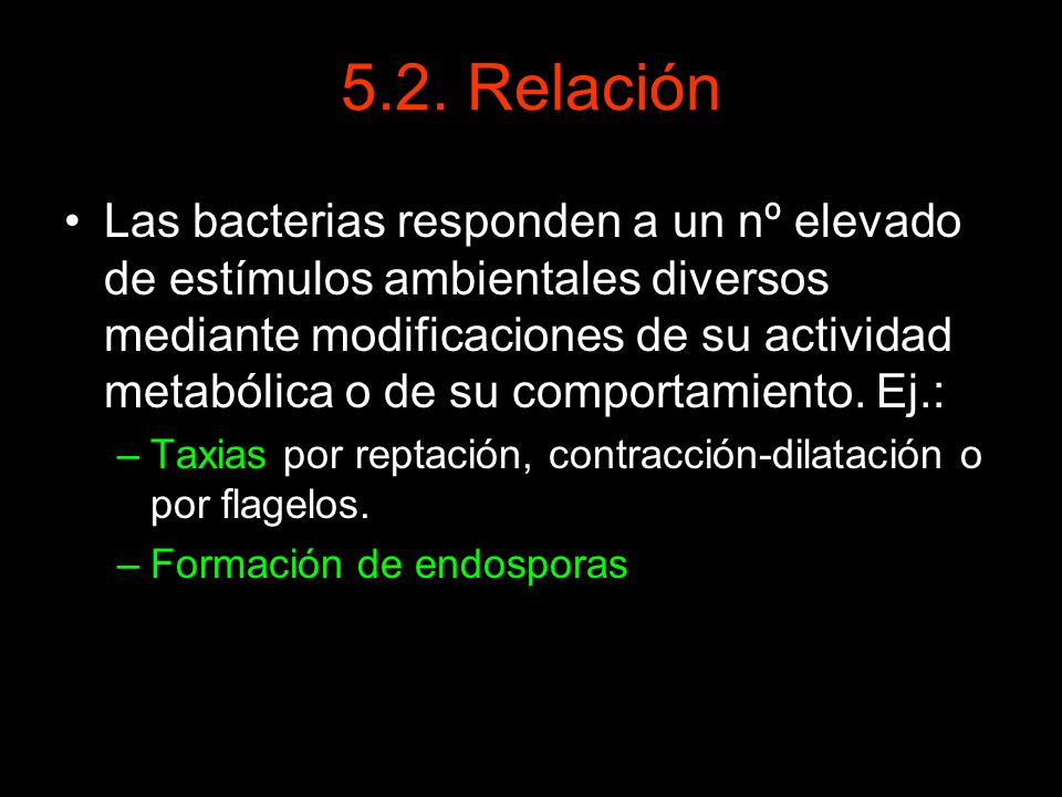 5.2. Relación