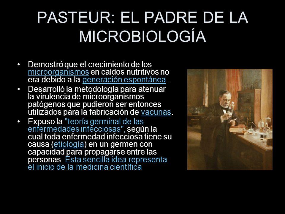 PASTEUR: EL PADRE DE LA MICROBIOLOGÍA