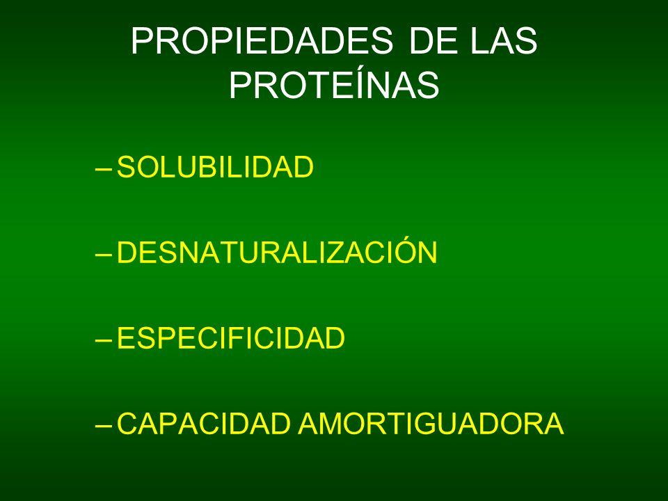 PROPIEDADES DE LAS PROTEÍNAS