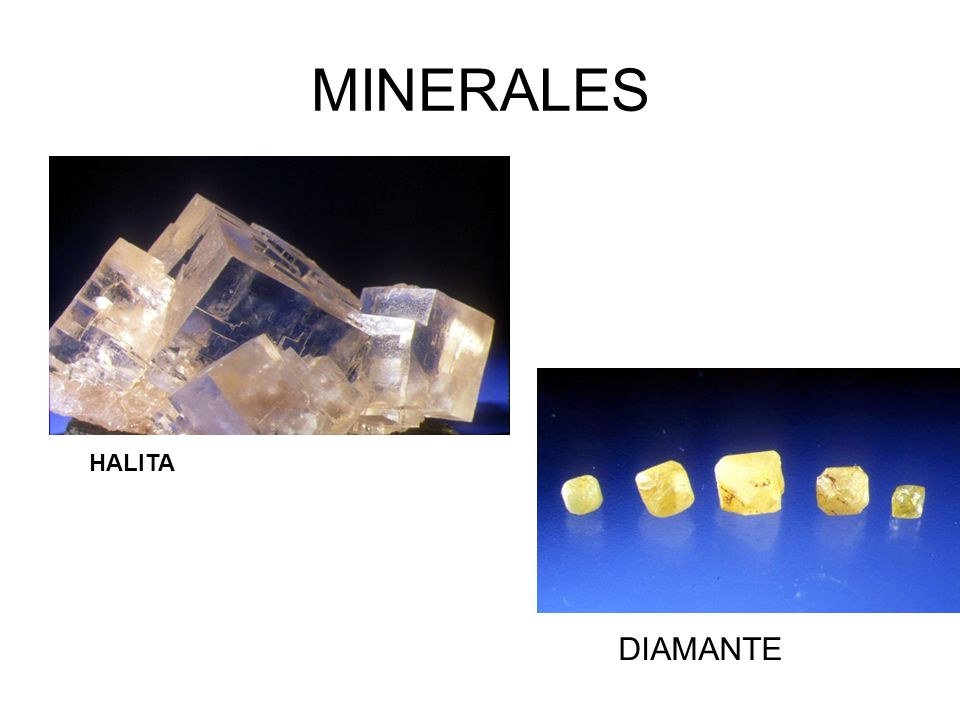 MINERALES HALITA DIAMANTE